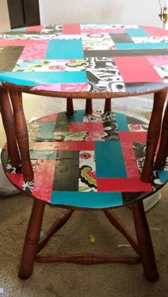 Mod podge Paper to table