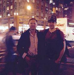 Colin with Kevin McCann in New York to remember Easter Week 100 years ago, and to discuss about his role of Séan Mac Diarmada. Merlin Characters, The Fall Season 3, Sean Mcdermott, Bbc, Merlin Colin Morgan, Bradley James, Jethro, The Masterpiece, Tom Hardy