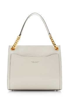 Le Grand Shopping Bag In Polished White by Marc Jacobs for Preorder on Moda Operandi
