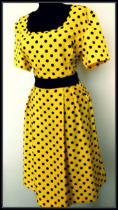 Items similar to Pleated Yellow Polka Dots Viscose Dress, Garden Party Summer Dress Women on Etsy Viscose Dress, Polka Dots, Short Sleeve Dresses, Gift Ideas, Yellow, Trending Outfits, Unique Jewelry, Garden, Gifts