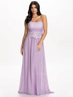 Bandeau Lace Up Dress - Nly Eve - Lavendel - Partykleider - Kleidung - Damen - Nelly.de Mode Online