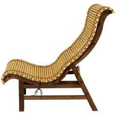 Curved Japanese Bamboo Lounge Chair (460 CAD) ❤ liked on Polyvore featuring home, outdoors, patio furniture, outdoor chairs, bamboo outdoor furniture, bamboo patio furniture, japanese outdoor furniture and japanese garden furniture