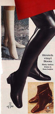 501ca781b6d Sears 68 fw black thigh high vinyl boots Thigh High Boots