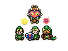 The Legend of Zelda Majora's Mask 2000 Perler Sprites by ShowMeYourBits