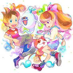 Yo-kai Watch | Whisper, Nate (Keita), Katie (Fumika) and Jibanyan