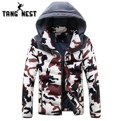 (32.99$)  Buy here - http://aiso6.worlditems.win/all/product.php?id=32732474853 - TANGNEST Newest Winter Camouflage Young Fashion Style Thick Warm Parka Hooded Slim Fit 3 Colors Asian Size Top Coat MWM1417