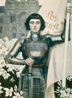 St Joan of Arc - Jeanne d'Arca Poster by Albert Lynch. All posters are professionally printed, packaged, and shipped within 3 - 4 business days. Choose from multiple sizes and hundreds of frame and mat options. Joan D Arc, Saint Joan Of Arc, St Joan, Jeanne D'arc, Florence The Machines, Classical Art, Renaissance Art, Art Plastique, Art History