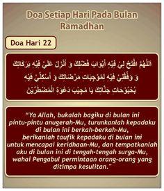 Doa hari 22 Ramadhan