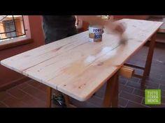Come costruire un tavolo da giardino con i Pallet - Faidate online - YouTube