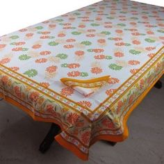 Spring Decor Cotton Tablecloth Rectangular 152 x 228 with Napkins Set of 6: Amazon.co.uk: Kitchen & Home