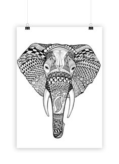 EDUARD – sophiasmonster Cute Doodle Art, Doodle Art Drawing, Zentangle Drawings, Art Drawings, Elephant Tattoo Design, Elephant Tattoos, Elefante Tribal, Doddle Art, Elephant Coloring Page