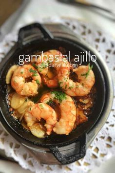 Appetizers For A Crowd, Seafood Appetizers, Easy Appetizer Recipes, Seafood Dishes, King Prawn Recipes, Shrimp Recipes, Diet Recipes, Healthy Recipes, Gambas Recipe