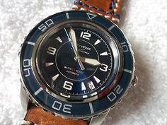 Seiko Fifty Five Fathoms Automatic Diver Sports Watch Snzh53 Blue Custom Fff