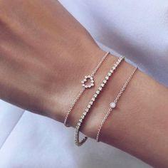 Dainty Bracelets, Diamond Bracelets, Dainty Jewelry, Simple Jewelry, Cute Jewelry, Gold Jewelry, Jewelry Bracelets, Jewelry Accessories, Fashion Accessories