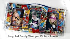 Wrap up a Recycled Candy Wrapper Picture Frame. Use styrofoam forms from packing boxes for more recycling power!
