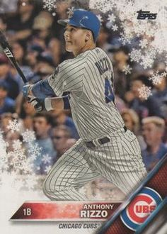 2016 Topps Holiday Baseball #HMW39 Anthony Rizzo Front