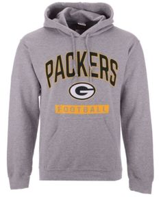 966b6f34d Authentic Nfl Apparel Men s Green Bay Packers Gym Class Hoodie - Gray L Nfl  Apparel
