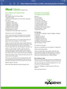 Isagenix meal ideas www.sherrygreth.isagenix.com  Visit my webpage and contact…