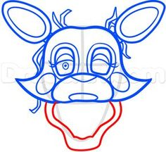 how to draw mangle from five nights at freddys 2 step 8