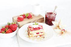 Strawberry Shortcake Waffles Recipe / Modern Daydream Living