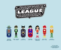 Justice League Logo | PixelBuds: Justice League of America by spasticbenji on…