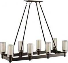 Circolo Collection Olde Bronze Rectangle Chandelier | LampsPlus.com - traditional - chandeliers - by Lamps Plus