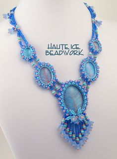 EBWC Wishing for Spring Beadwoven Necklace by HauteIceBeadwork, $195.00