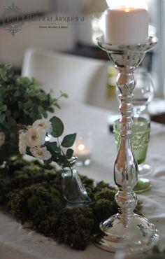 Decoração de mesa com castiçal de prata para Jantar por Patricia Junqueira {Home, Receber & Baby}.  #Tablescape www.patriciajunqueira.com.br