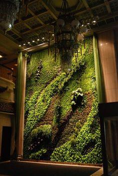 rough luxe vertical gardens