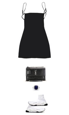 """Untitled #393"" by s-junior on Polyvore featuring Balenciaga, Yves Saint Laurent and Effy Jewelry"