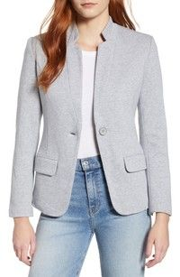 The office isn't the only place you can wear this versatile blazer cut with a minimized notched collar. Style Name:Gibson Notch Collar Cotton Blend Blazer. Style Number: Available in stores. Stylish Outfits, Cool Outfits, Fashion Outfits, Beautiful Outfits, Girly Outfits, Women's Fashion, Fashion Ideas, Blazer Fashion, Fashion Updates