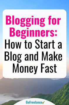 Even beginners can make great money at blogging, and you don't have to wait months to see results. Here's a quick & easy intro to blogging for beginners. Thousands of people have turned blogging into a profitable venture. Some make a thousand dollars a month as a side hustle. Others make tens of thousands, and work as full-time bloggers. To see how you can do this, too, CLICK 'READ' Earn Money Online, Make Money Blogging, Money Tips, Saving Money, Home Based Business, Online Business, Business Tips, Internet Marketing, Content Marketing