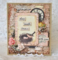 Card made with Prima products
