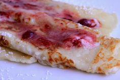 Swedish Pancakes with Lingonberry Butter. i LOVE lingonberries! my daughter orders them from ikea.