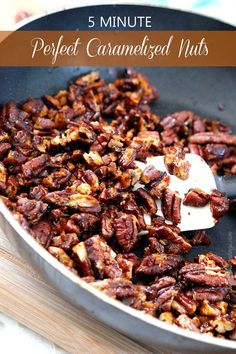 The easiest AND most delicious caramelized nuts in 5 minutes!