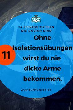 """Die 14 größten Sport und Fitness Mythen busted: hier liest du die Wahrheit zum Mythos """"Ohne Isolationsübungen wirst du nie dicke Arme bekommen"""". #mythbuster #fitnessfacts #fitnessfakten"""