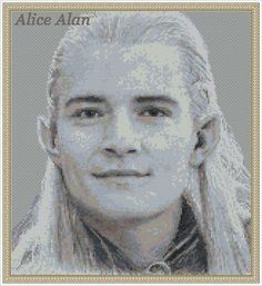 Legolas hero of trilogy The Lord of the Rings and by HallStitch