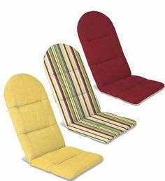 Our weather-resistant outdoor adirondack cushions are available in a multitude of sizes, shapes and colors for your adirondack furniture pieces. 52 x x Adirondack Chair Cushions, Adirondack Furniture, Papasan Chair, Diy Chair, Leather Swivel Chair, Contemporary Dining Chairs, Teds Woodworking, Living Room Chairs, Furniture Making