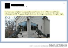 Funny pictures about Neighbors With A Brilliant Sense Of Humor. Oh, and cool pics about Neighbors With A Brilliant Sense Of Humor. Also, Neighbors With A Brilliant Sense Of Humor photos. Funny Cute, The Funny, Donald Trump, I Love To Laugh, Laughing So Hard, Just For Laughs, That Way, Laugh Out Loud, In This World