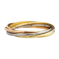Cartier bracelet, 3-gold & diamonds, £19,000