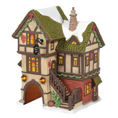 Dickens Village The Mulberry Gate House 6005399 – Department 56 Official Site Minecraft Bakery, Minecraft Cottage, Easy Minecraft Houses, Minecraft Houses Blueprints, Minecraft House Designs, Minecraft Creations, Minecraft Crafts, House Blueprints, Minecraft Stuff