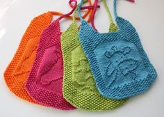 Cherry Heart: It's a girl Ravelry - bibs by Elaine Fitzpatrick