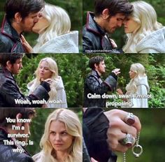 """Hook said """"Calm down Swan, I'm not proposing"""" and I was like """"Yet."""" #CaptainSwan #OnceUponATime"""