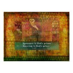 Inspirational Rumi quote Print