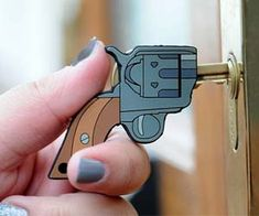 Pistol Shaped Key cover!! Want.