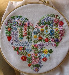 Embroidery sampler stunning something I aspire to do one day for my daughter as a wedding trousseau.