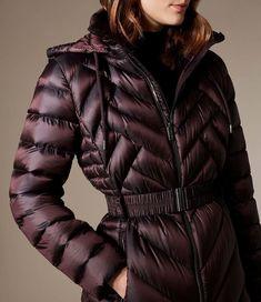 77deb8cf4a Karen Millen, Long Packable Puffer Jacket Burgundy Puffer Jackets, Winter  Jackets, Karen Millen