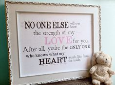 No One Else Will Ever Know     Baby Love Art Print   11x14 by UUPP, $30.00
