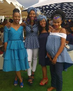 Pretty shweshwe print for a youthful modern look - Reny styles African Wear, African Dress, African Fashion, African Traditional Dresses, Dress Codes, Casual Wear, Modern, Peplum Dress, Youth