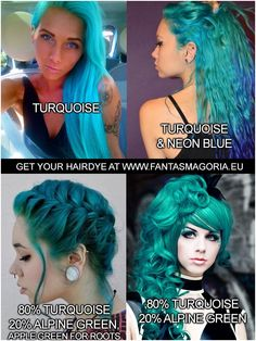 Best Indoor Garden Ideas for 2020 - Modern Gothic Hairstyles, Permed Hairstyles, Turquoise Hair Color, Directions Hair Dye, Alpine Green, Semi Permanent Hair Dye, Bleaching Your Hair, Synthetic Hair Extensions, Bright Hair